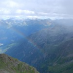 Regenbogen am Petzeck mit Blick nach Süden